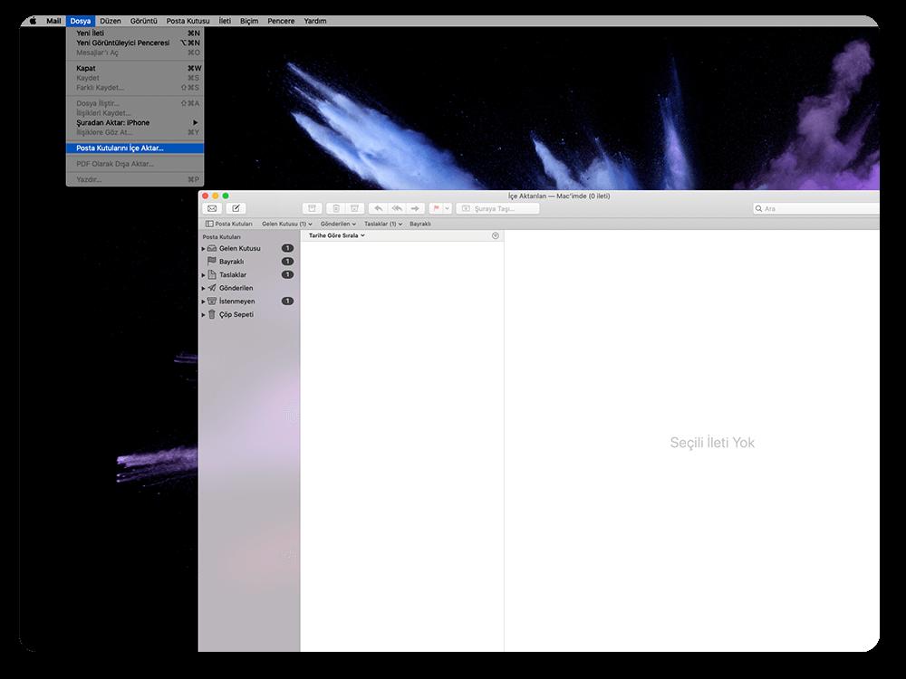 Mbox Formatını İçeri Alma